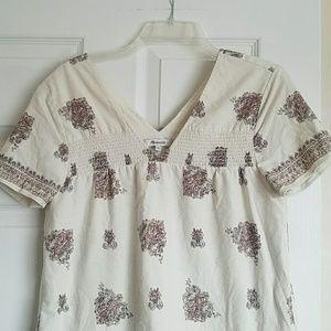 Madewell smock top mini shift dress sz small